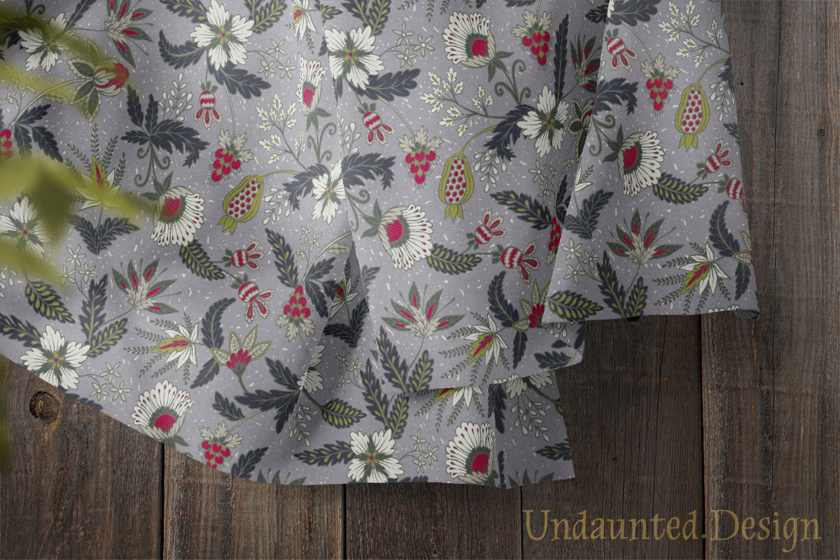 Textured Indian Floral Textile