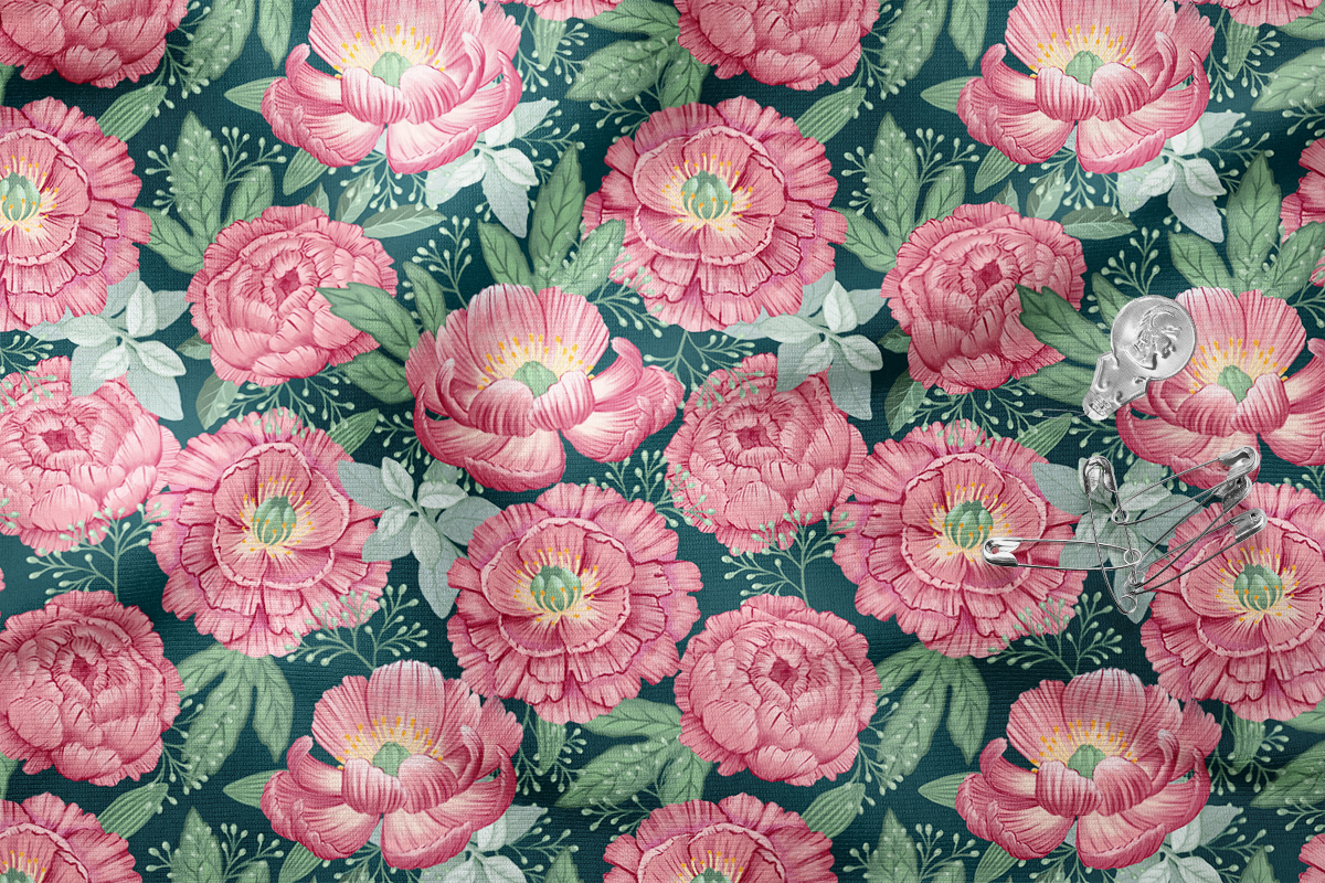 Painterly Floral With Pink Peonies by Marit Cooper