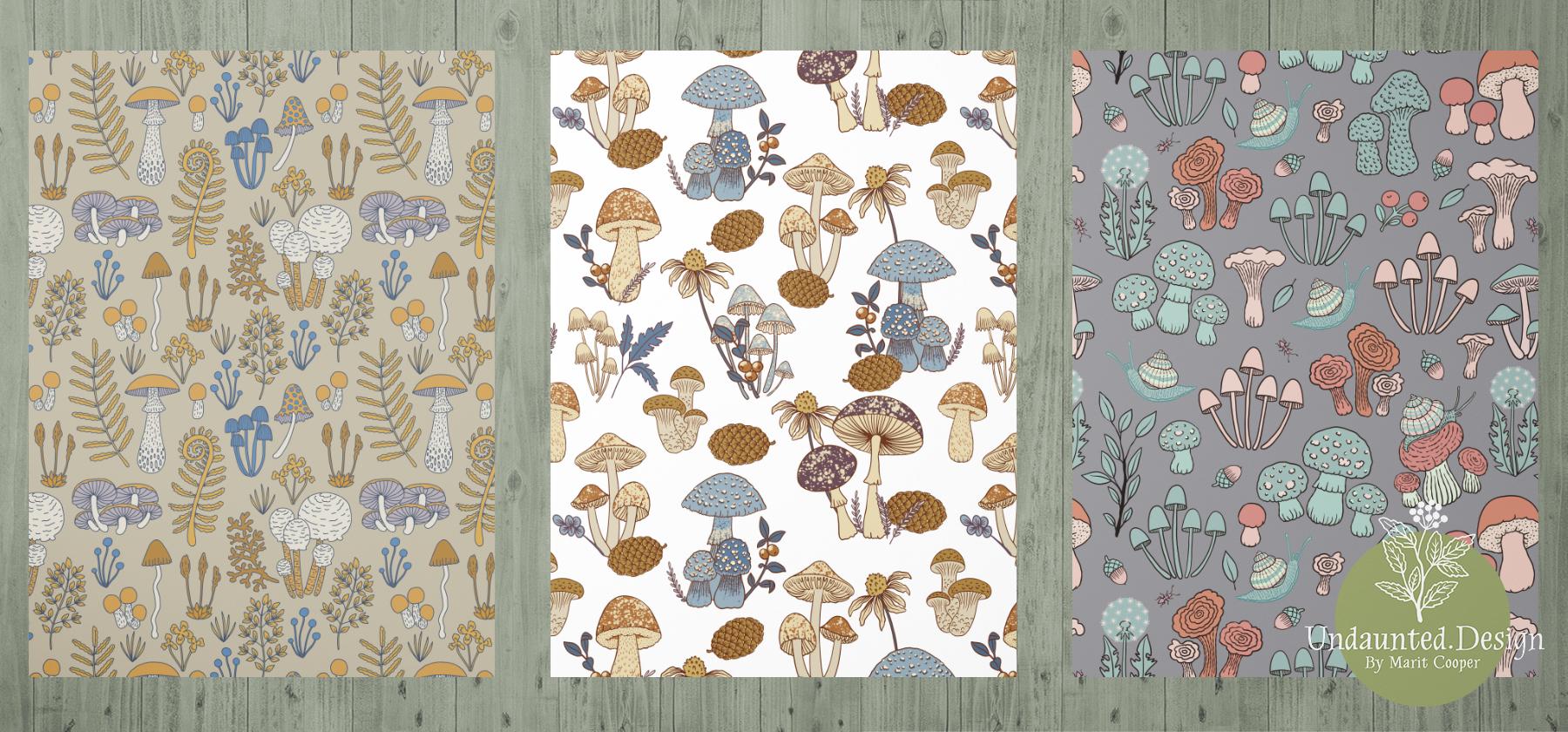 Mushroom Patterns by Marit Cooper