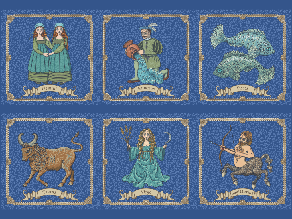 Zodiac Signs by Marit Cooper