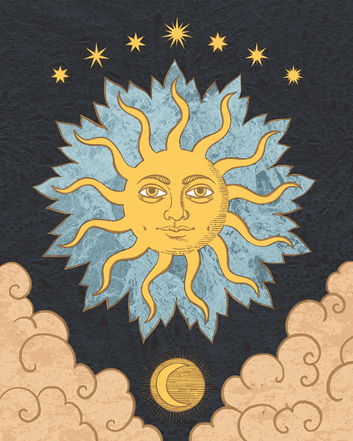 Sol with seven stars